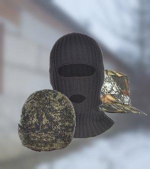 109Камуфляжные кепи, шапки и маски